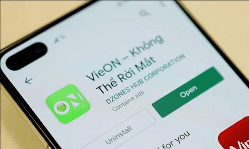 Ứng dụng VieON do công ty cổ phần Đông Tây Promotion phát triển