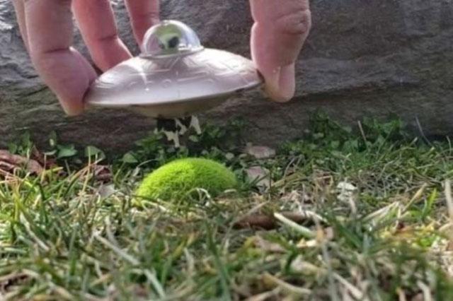 Vật thể bay nhỏ như món đồ chơi.