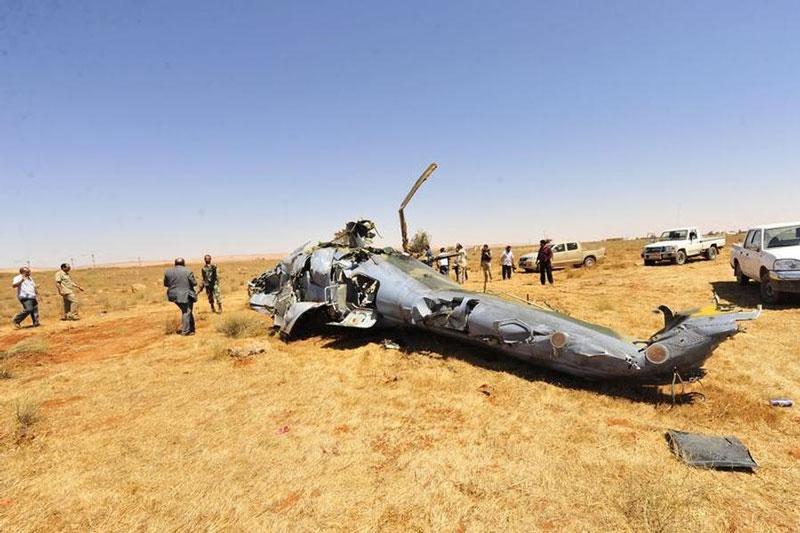 Trực thăng Mi-35 của Nga bị rơi ở Syria