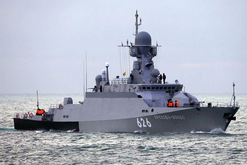 Nga điều tàu chiến trang bị tên lửa hành trình Kalibr-NK tới biên giới Syria