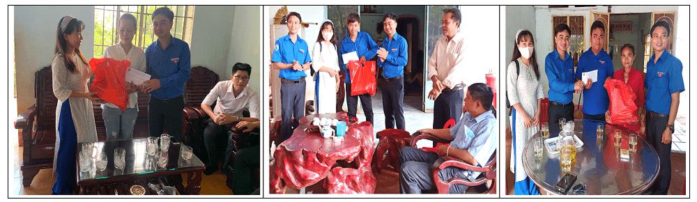 Tỉnh Đoàn Bình Phước, huyện Đoàn Hớn Quản cùng nhà báo Minh Thùy đến thăm, động viên, tặng quà cho những hoàn cảnh éo le gồm: Nữ cán bộ Đoàn Trần Thị Mai; đoàn viên Nguyễn Văn Giang và đoàn viên Điểu Phú.