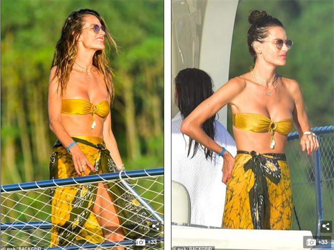 Siêu mẫu Alessandra Ambrosio mặc bikini quây khoe vòng 1 nóng bỏng - ảnh 2
