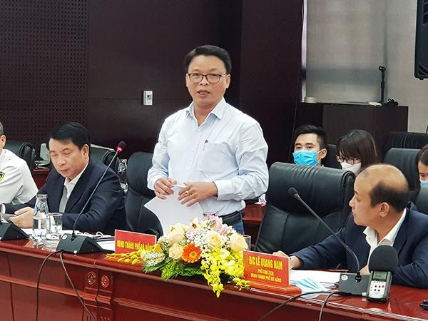Phó Giám đốc Sở GTVT Đà Nẵng Lê Thành Hưng cho biết đang khẩn trương hỗ trợ Công ty CP Cảng Đà Nẵng chuẩn bị hồ sơ thủ tục để quý IV/2021 khởi công dự án xây dựng Trung tâm dịch vụ Logistics Hoà Vang