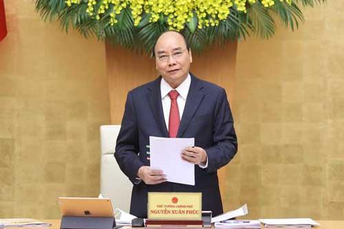Thủ tướng Nguyễn Xuân Phúc kết luận tại cuộc họp. Ảnh: TTXVN.