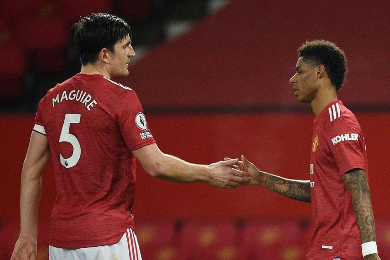 Rashford và Maguire chửi nhau trên sân ở trận gặp Crystal Palace