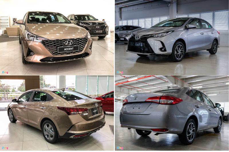 So sánh Hyundai Accent 1.4 AT Đặc biệt với Toyota Vios G CVT