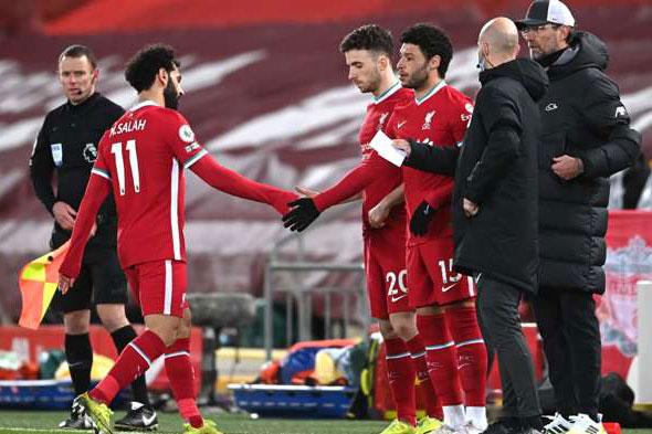 Salah rời sân.
