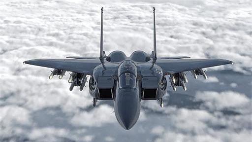 Tiem kich F-15E cua My manh ngang may bay nem bom chien luoc Trung Quoc-Hinh-7