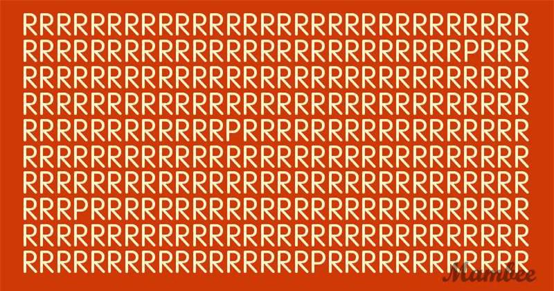 Thách thức thị giác 15 giây: Đố bạn tìm ra 4 chữ P trong bảng chữ R - Ảnh 1.