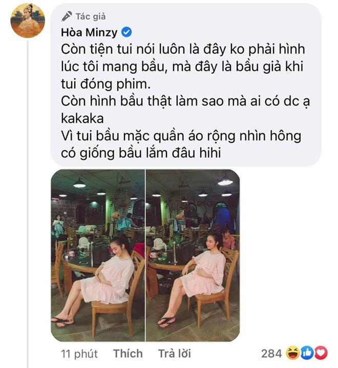 """Hoà Minzy nói rõ thực hư ảnh bụng bầu vượt mặt trong quá khứ, tiết lộ cách """"hack dáng"""" lúc mang thai con đầu lòng - Ảnh 3."""