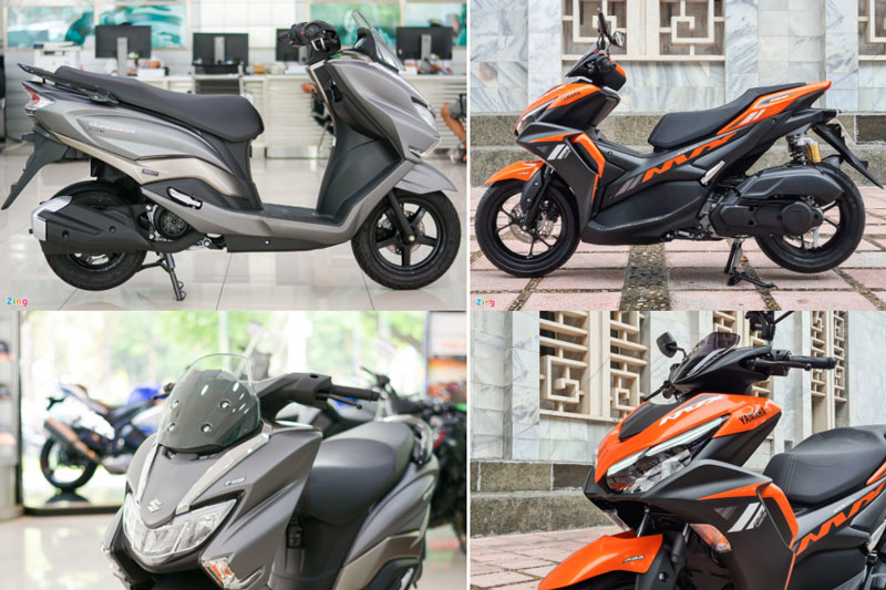 Tầm giá 50 triệu đồng, chọn mua xe ga Suzuki Burgman Street hay Yamaha NVX?