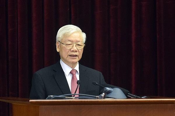 Tổng Bí thư, Chủ tịch nước Nguyễn Phú Trọng: Bộ Chính trị đã xem xét cẩn trọng cơ sở pháp lý và cơ sở thực tiễn của việc kiện toàn các chức danh lãnh đạo các cơ quan Nhà nước ngay sau Đại hội toàn quốc lần thứ XIII của Đảng. Ảnh: VGP