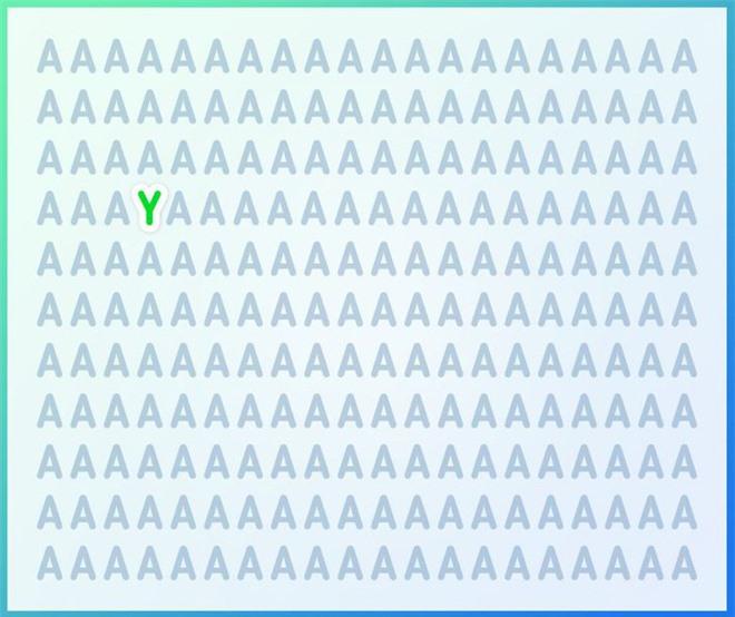 Thách thức thị giác 3 giây: Thử tài tinh mắt tìm một chữ cái in hoa khác trong vựa chữ A - Ảnh 2.