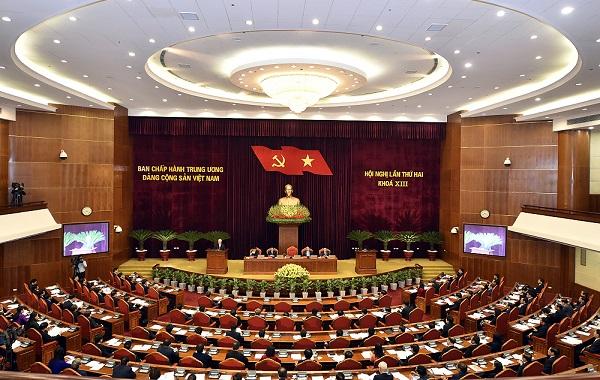 Hội nghị Trung ương lần thứ 2 khóa XIII chính thức khai mạc sáng 8/3. Ảnh: VGP