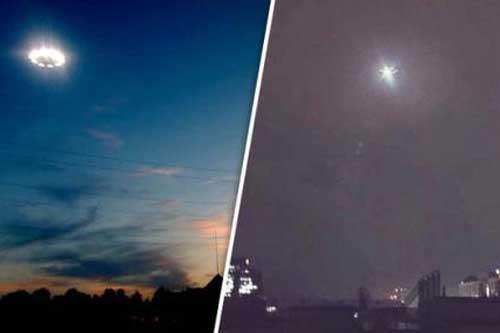 UFO với tia lửa màu xanh xuất hiện ở Nhật Bản