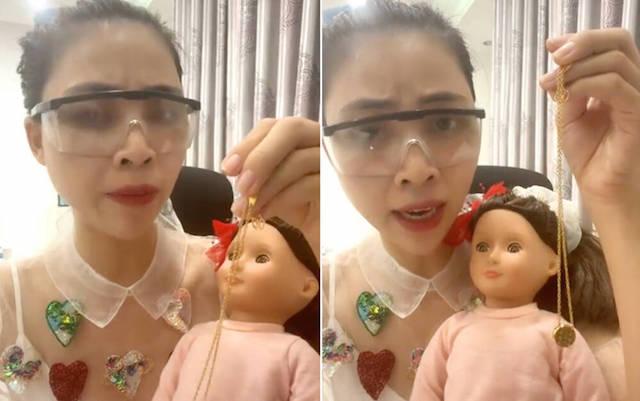 """Dư luận phản đối việc TikToker, Youtuber Thơ Nguyễn dùng búp bê ''cầu vía học giỏi"""" cho trẻ em."""
