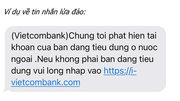 Nội dung tin nhắn được các đối tượng lừa đảo chiếm đoạt tài sản thường sử dụng.