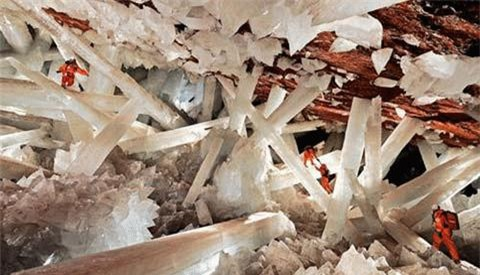 Động này nằm sâu bên trong một khu mỏ ở miền nam Chihuahua, Mexico. Đó là một hốc tinh đầy ắp các khối pha lê kỳ vĩ có màu vàng hoặc bạc trong mờ, với nhiều hình dạng lạ thường.