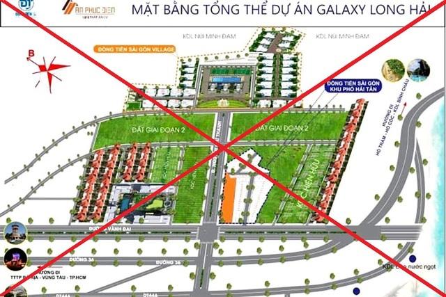 """Công ty CP đầu tư và phát triển Đồng Tiến Sài Gòn """"vẽ"""" ra dự án mang tên Galaxy Long Hải để ký hợp đồng chuyển nhượng QSDĐ với nhiều khách hàng."""
