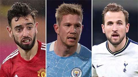 Kane, Muller, De Bruyne và Fernandes tranh Vua kiến tạo bóng đá châu Âu