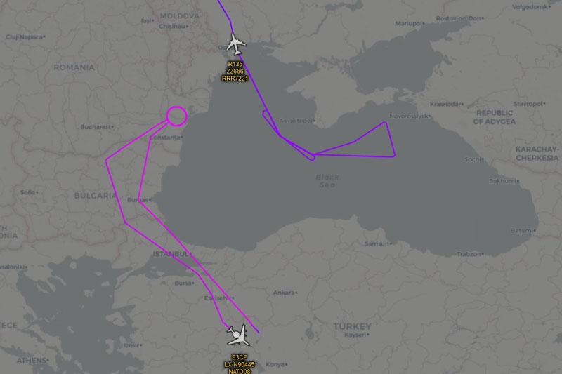 Hai chuyến bay đặc biệt của NATO đã cố gắng khiêu khích các máy bay S-400 của Nga ở Crimea.