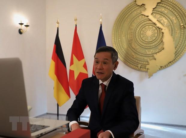 Đại sứ Việt Nam tại CHLB Đức Nguyễn Minh Vũ. (Ảnh: Thanh Bình/TTXVN)