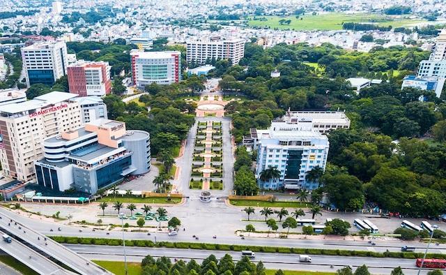Một góc Công ty phát triển Công viên phần mềm Quang Trung (QTSC).