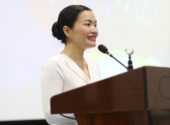 PGS. TS. Võ Thị Ngọc Thúy, Quyền Hiệu trưởng Đại học Hoa Sen mong muốn khóa học sẽ tạo đà để các bạn trẻ có thể tạo ra các kịch bản tốt, chất lượng nhằm đưa nền điện ảnh Việt Nam lên một tầm cao mới.