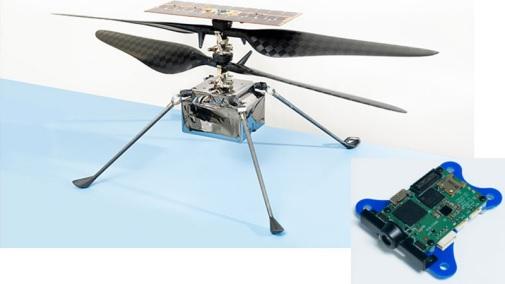 Nền tảng Qualcomm Flight hỗ trợ cho trực thăng Ingenuity. Nguồn ảnh: NASA/JPL-Caltech
