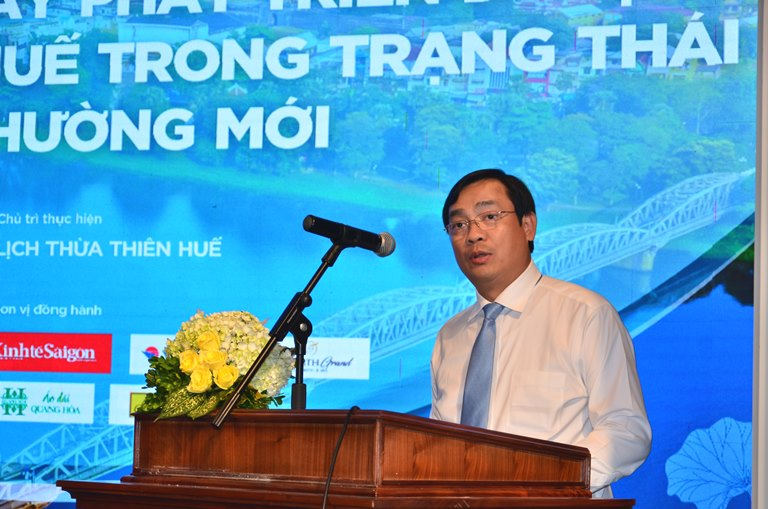 Ông Nguyễn Trùng Khánh, Tổng cục trưởng Tổng cục Du lịch phát biểu tại Hội nghị.