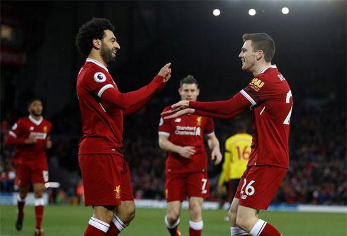 Salah và Robertson vẫn đang là những trụ cột của Liverpool đến thời điểm này