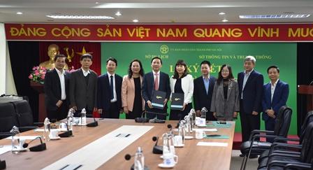 Lễ ký kết Chương trình phối hợp giữa Sở Du lịch Hà Nội - Sở Thông tin và Truyền thông Hà Nội