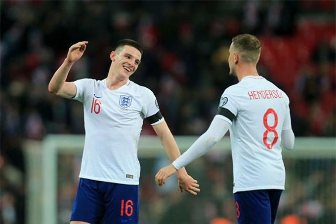 Henderson và Declan Rice sát cánh cùng nhau sẽ hạn chế lối chơi của ĐT Anh