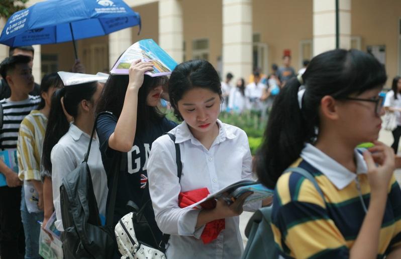 Kỳ thi năng khiếu báo chí tại Học viện Báo chí và Tuyên truyền.