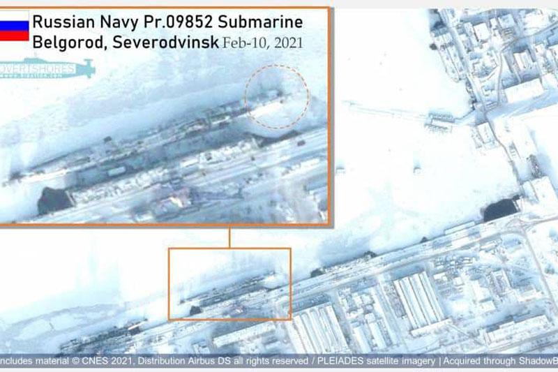 Vệ tinh Mỹ lần đầu tiên phát hiện tàu ngầm hạt nhân của Nga mang theo siêu ngư lôi hạt nhân