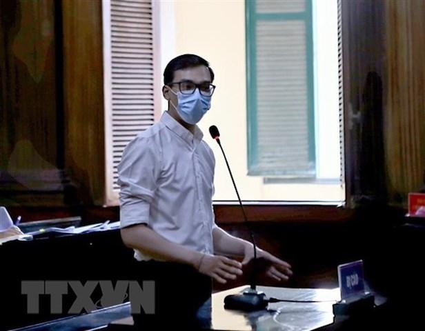 Bị cáo Dương Tấn Hậu tại tòa. (Ảnh: Thành Chung/TTXVN)