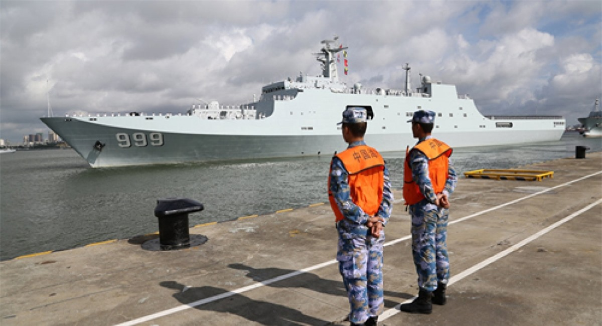 Binh sĩ Trung Quốc tại căn cứ ở Djibouti. Ảnh: AP.