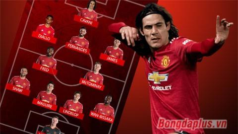 Đội hình dự kiến trận MU vs Brighton: Cavani trở lại