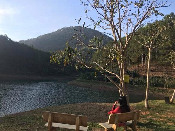 Sáng sớm bên Hồ Tuyền Lâm.