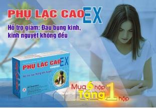 Thực phẩm bảo vệ sức khỏe Phụ Lạc Cao EX – Hỗ trợ lưu thông khí huyết.