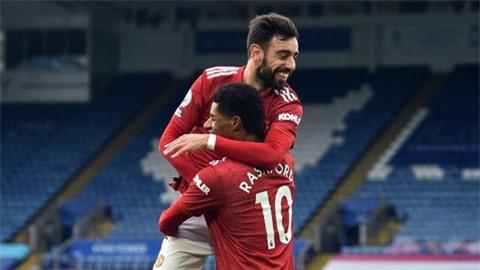 Rashford và Fernandes lập thống kê ấn tượng sau trận thắng Brighton