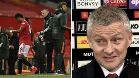 Solskjaer giải thích lý do thay Rashford ít phút sau khi ghi bàn