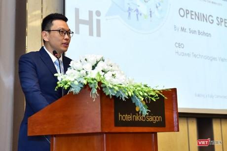 Ông Sun Bohan cho biết, hệ sinh thái đối tác của Huawei tại Việt Nam đang mở rộng rất nhanh chóng. (Ảnh: Internet)