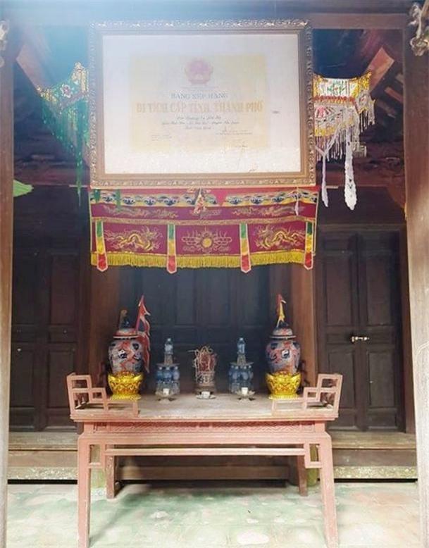 Đền thờ được UBND tỉnh Ninh Bình công nhận là di tích cấp tỉnh năm 2007.