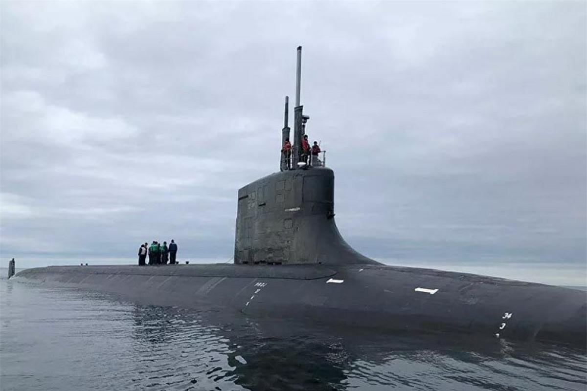 Tàu ngầm USS Seawolf . Ảnh: Hải quân Mỹ