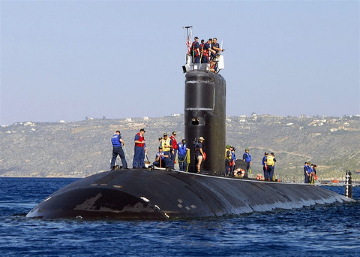 Tàu ngầm hạt nhân USS Alexandria. Ảnh: Wikipedia.