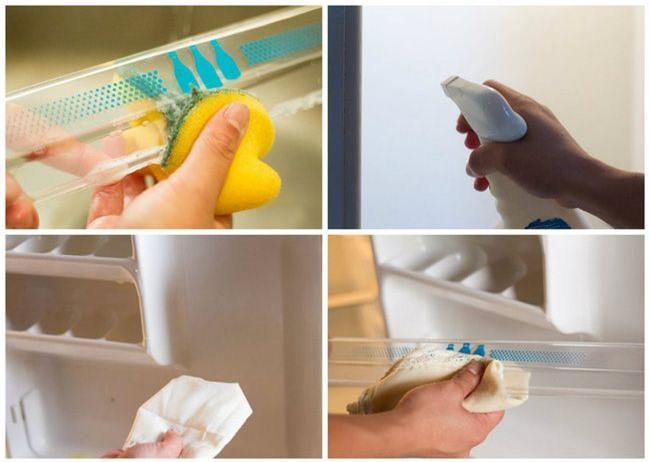 Mẹo làm sạch ngăn đá tủ lạnh