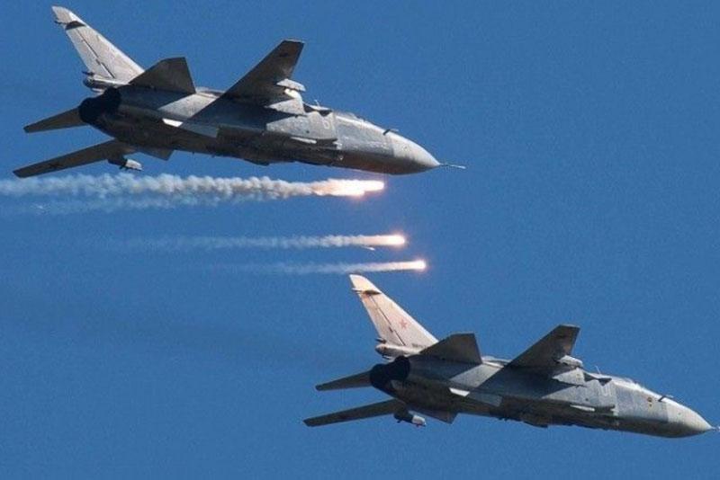 Các vị trí của pháo binh Thổ Nhĩ Kỳ bị Không quân Nga tấn công