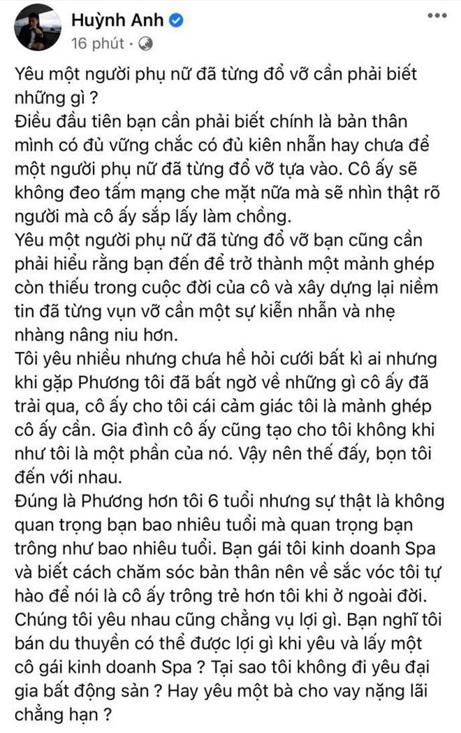 Huỳnh Anh lên tiếng tiết lộ lý do cầu hôn bạn gái hơn 6 tuổi và là mẹ đơn thân, làm rõ 1 điều về gia thế khủng của vợ sắp cưới - Ảnh 2.