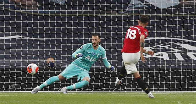 Mourinho mỉa mai MU được hưởng quá nhiều phạt đền giống như bàn thắng của Bruno Fernandes ở trận lượt đi